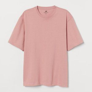 H&M Relaxed Fit Loose Fit Pink T-Shirt Large